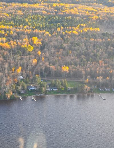 Aerial view of Okimot Lodge